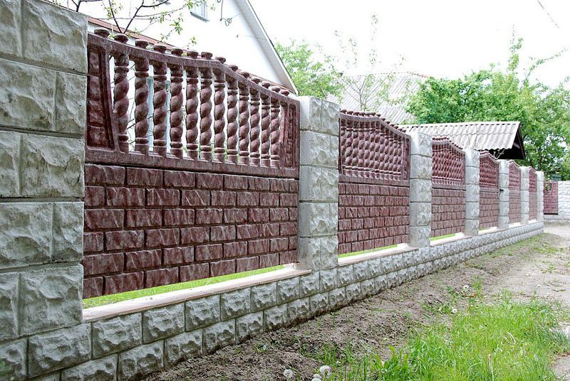 Бетонный забор под покраску