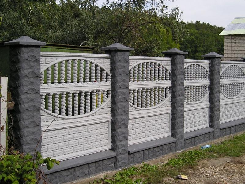 Декоративные бетонные заборы для дачного участка