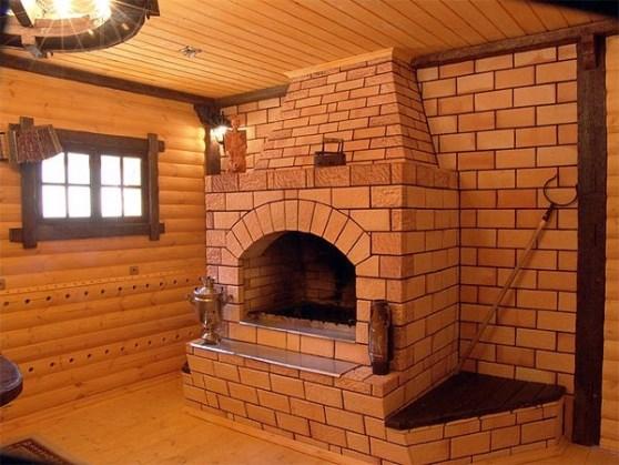 Печь-камин на дровах для дачи