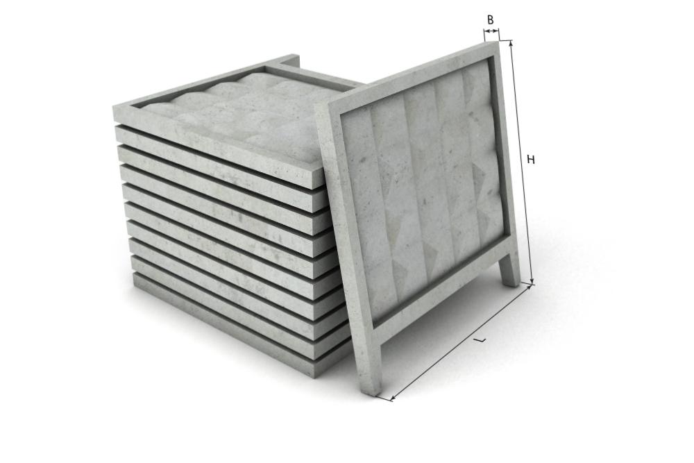 Плита стандартного бетонного забора