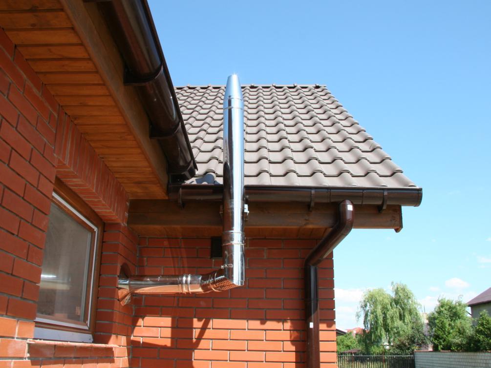 Система с вертикальным коаксиальным дымоходом