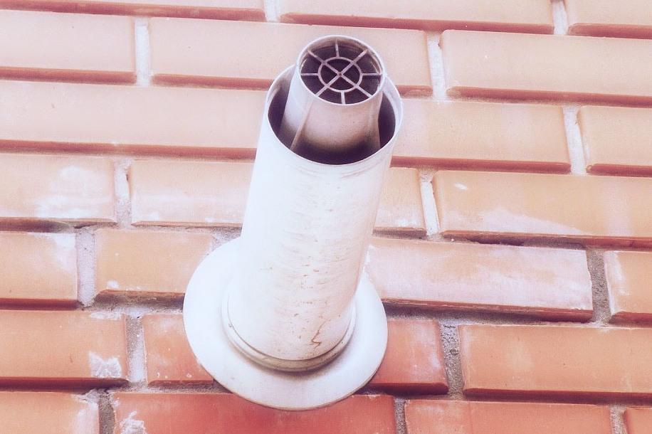 Смонтированный коаксиальный дымоход