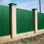 Забор из профлиста: как построить