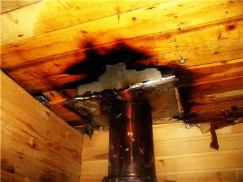 Пожар из-за неправильного монтажа дымохода