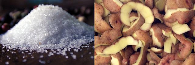 Соль и картофельная ботва для чистки дымохода