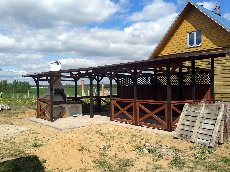 Беседки с односкатной крышей для дачного участка