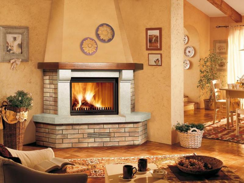Электрический угловой камин для создания уюта в доме