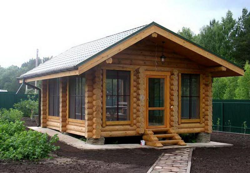 Как построить летнюю кухню из бревна на даче своими руками