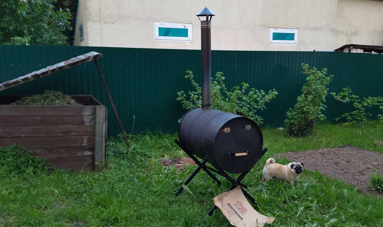 Печь для сжигания мусора на даче своими руками из бочки фото 969
