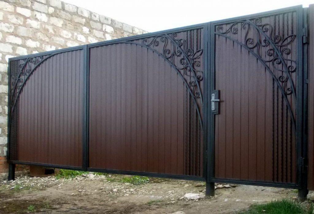 Ворота калитки из металла своими руками