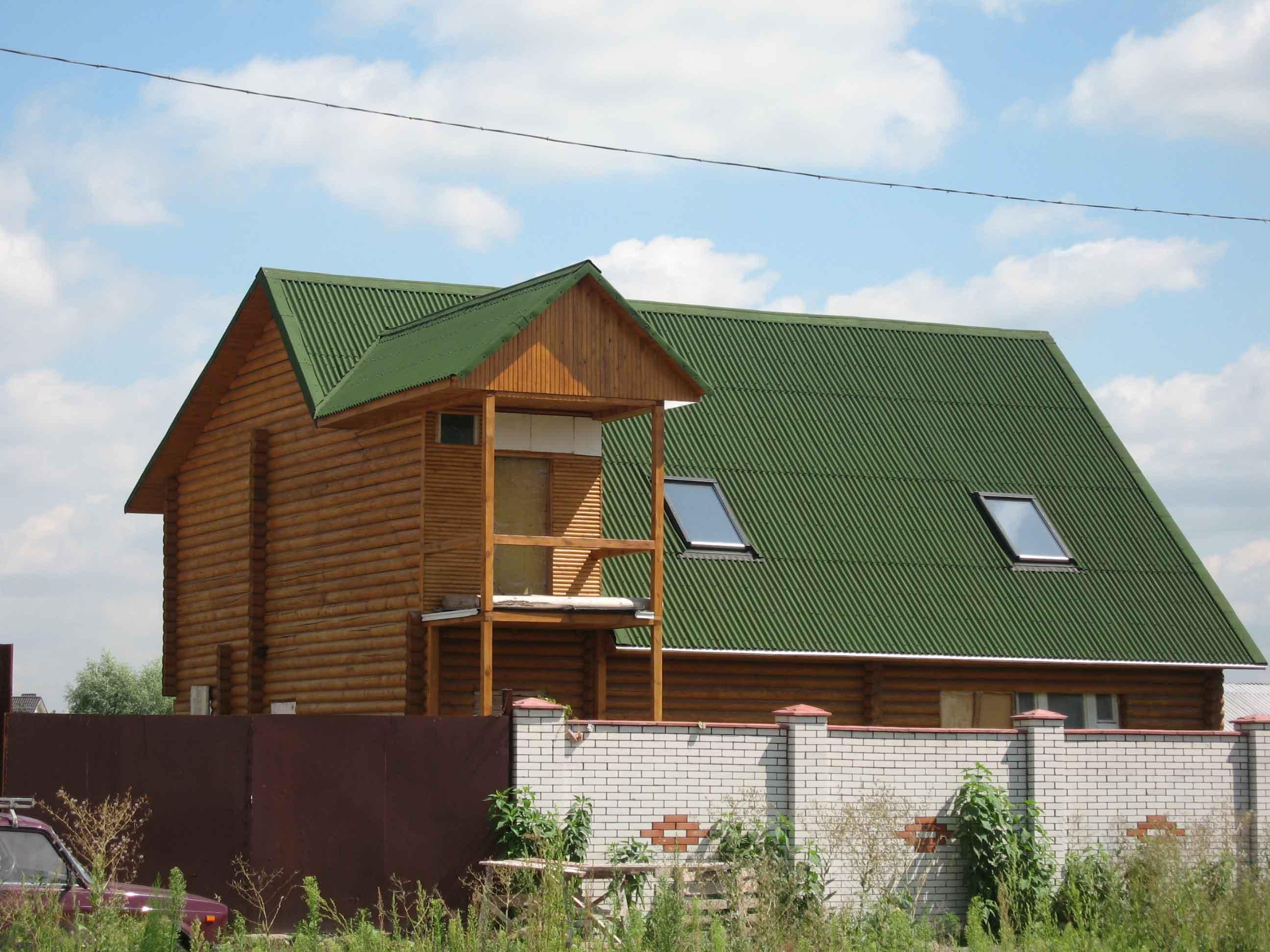 Крыша из ондулина для дачного домика