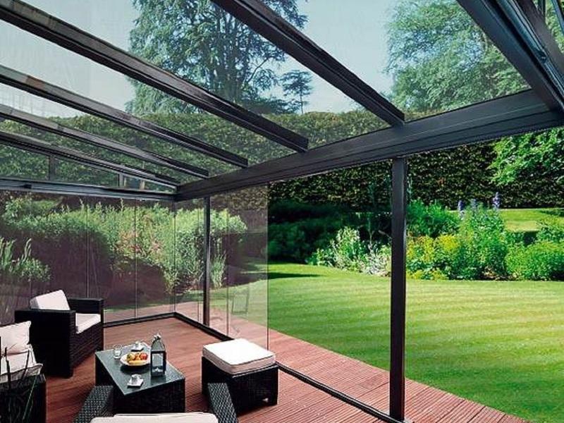 Крыша из поликарбоната для террасы в современном стиле
