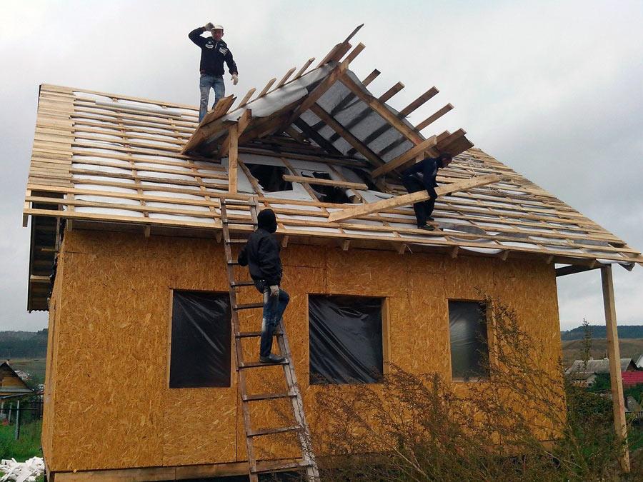 Обрешетка крыши под ондулин