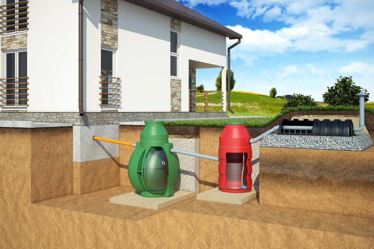 Организация отвода канализационных вод при высоком уровне грунтовых вод