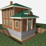 Кирпичный фундамент кирпичного дома