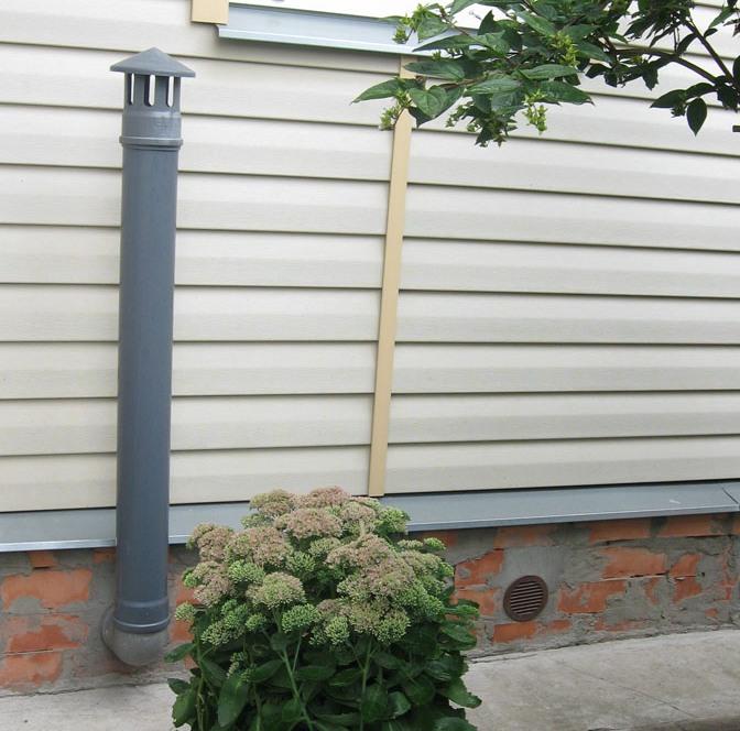 Приточная труба для вентиляции погреба под домом