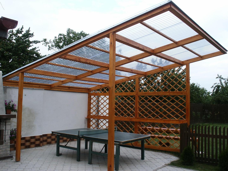 Простая односкатная крыша из поликарбоната
