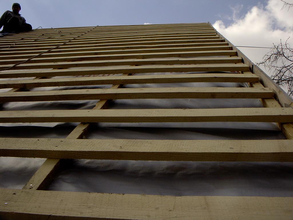 Разреженная обрешетка крыши под шифер