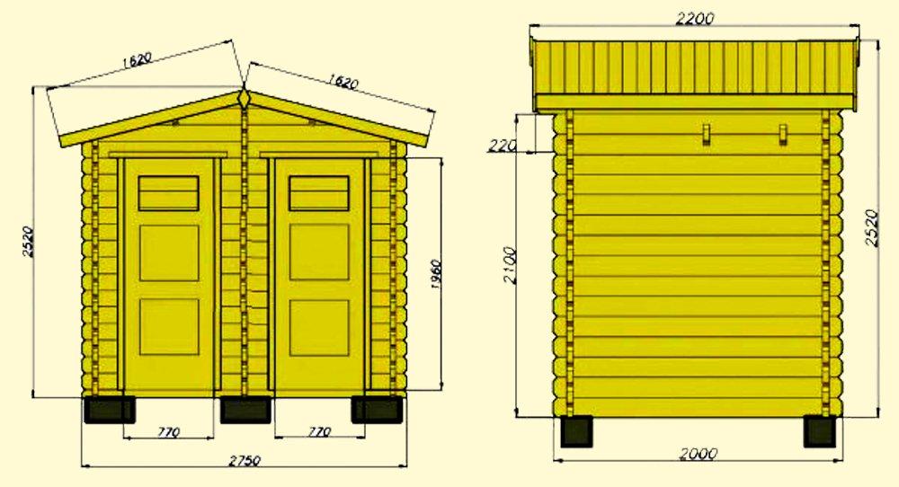 Схема дачного туалета с душем под одной крышей своими руками