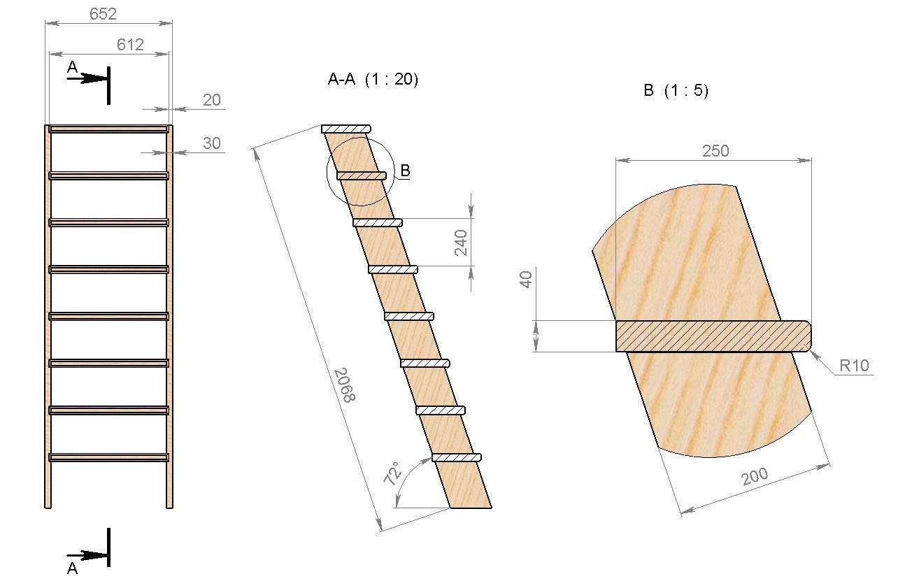 Схема устройства лестницы в подвал своими руками