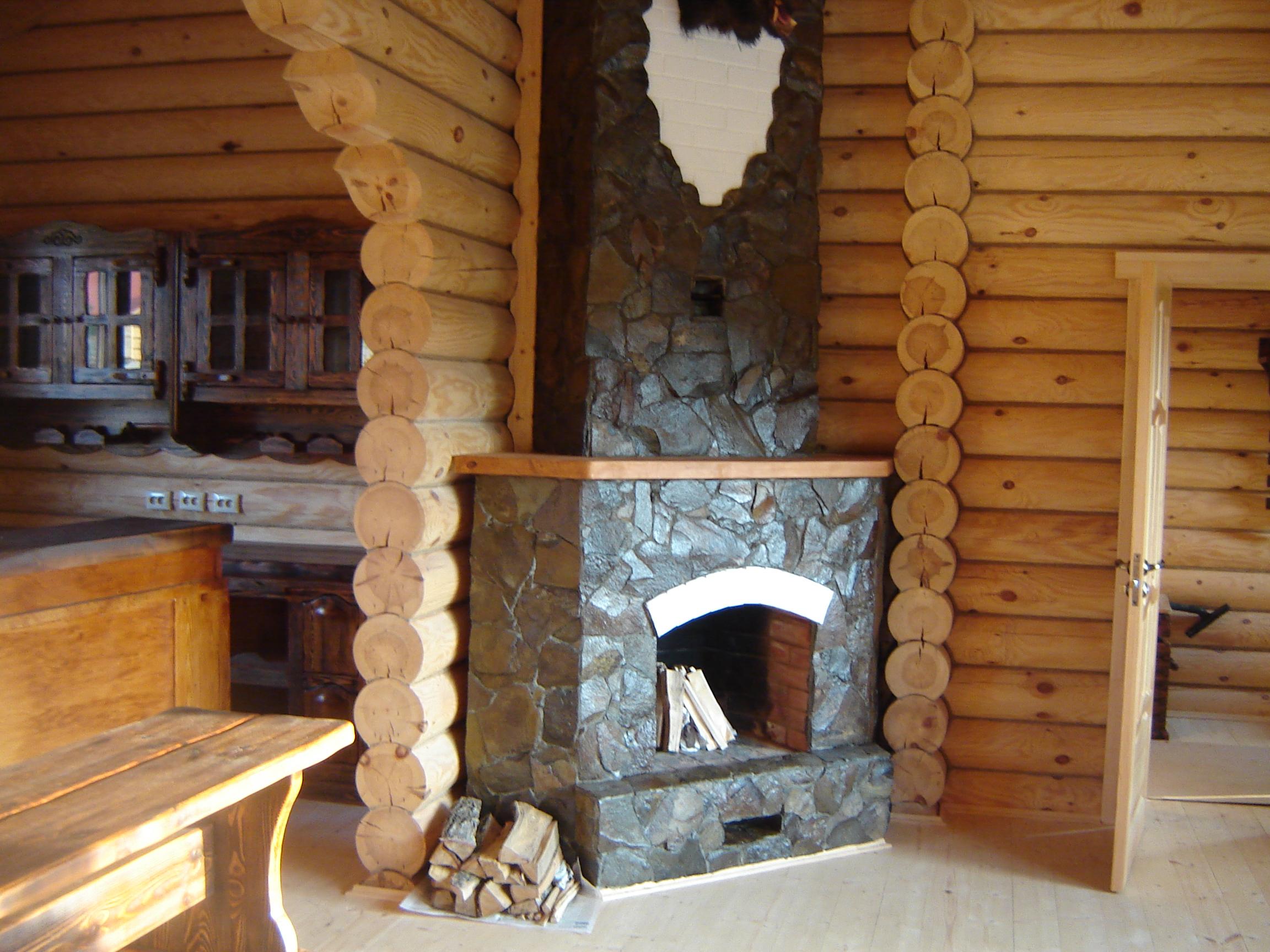 отделка печей каминов в деревянном доме фото том числе