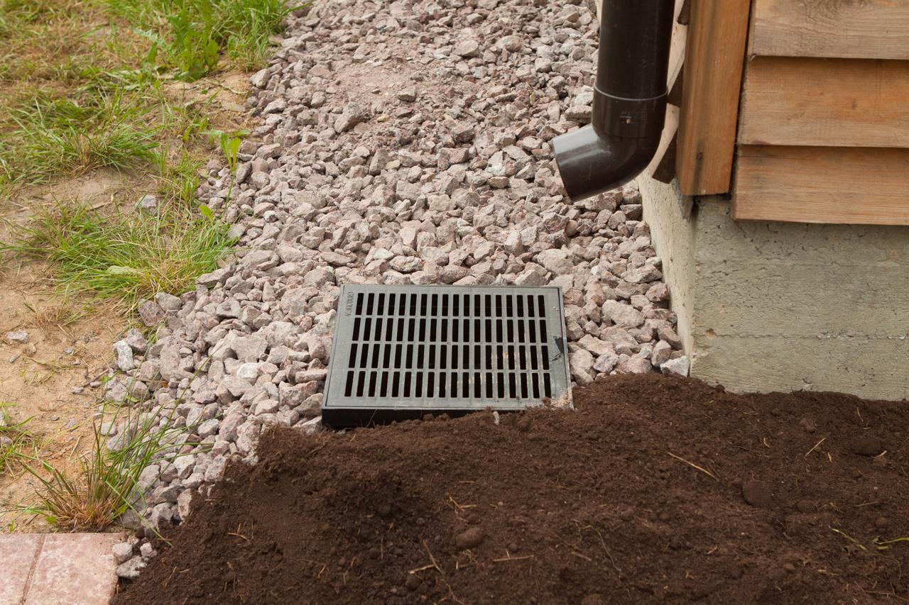Установка ливневой канализации на даче