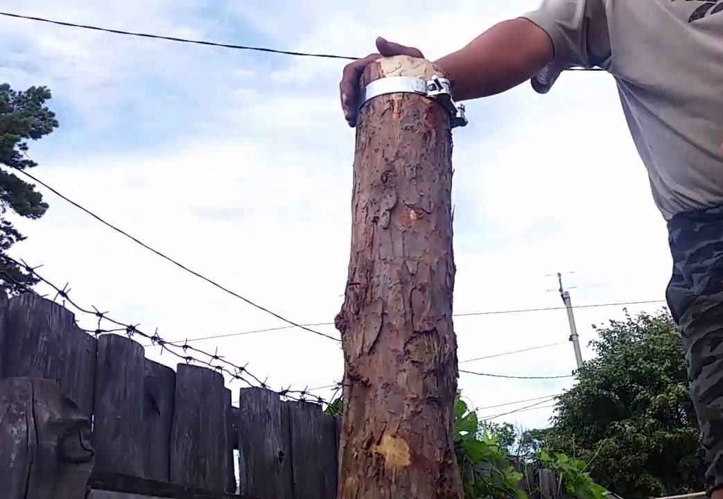 Забиваем деревянные столбы для забора своими руками