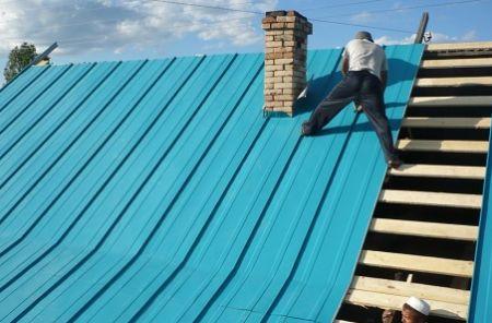 Крепление профнастила к крыше