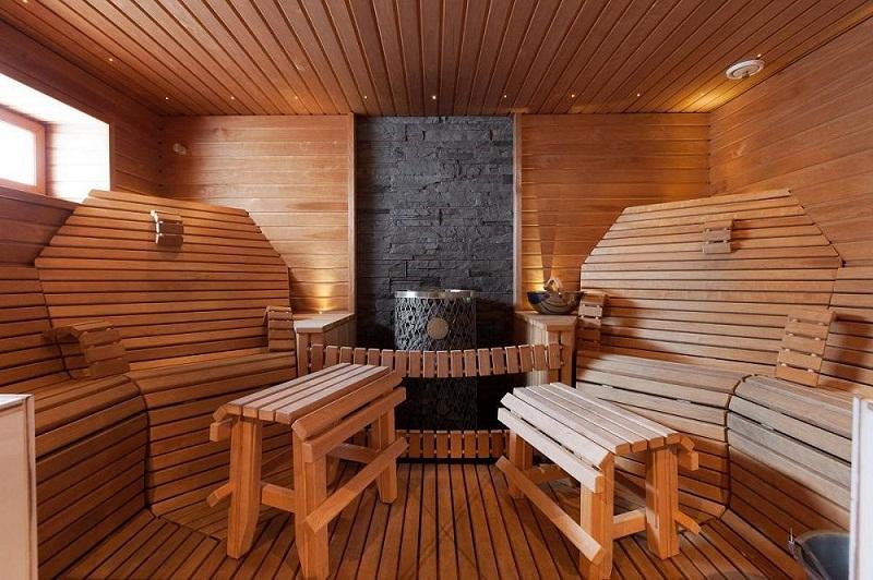 Баня и дом под одной крышей, отделка бани внутри