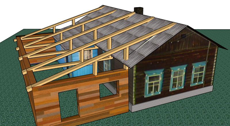 Баня и дом под одной крышей, проект сооружения