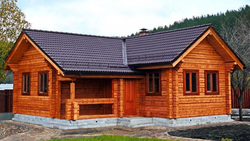 Баня и дом под одной крышей, укладка кровельного покрытия
