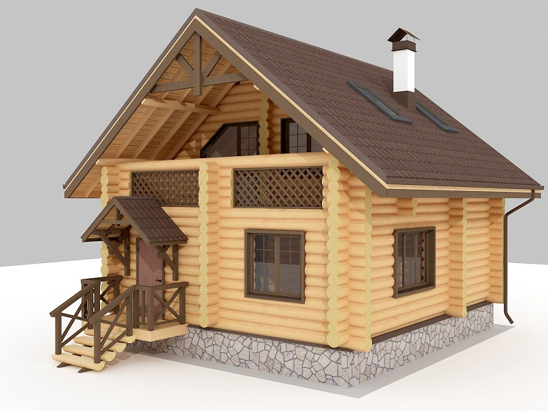 Деревянные баня и дом под одной крышей своими руками