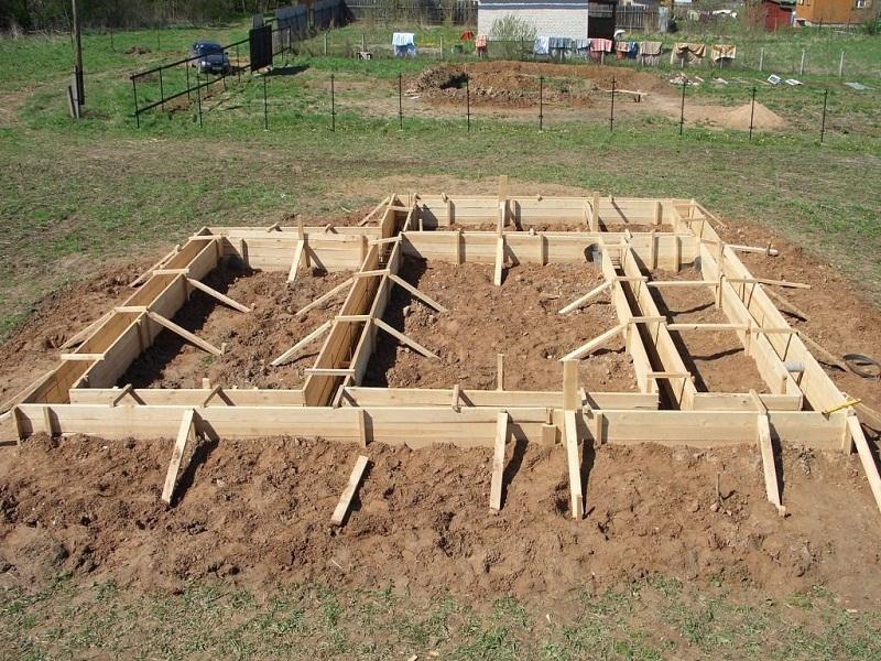 Доски для опалубки фундамента, метод сбора опалубки