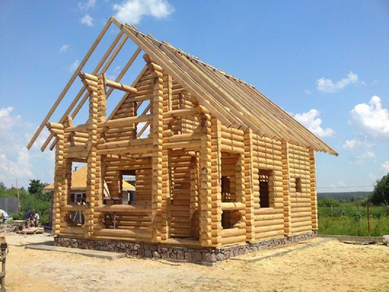 Фундамент для дома из бревна
