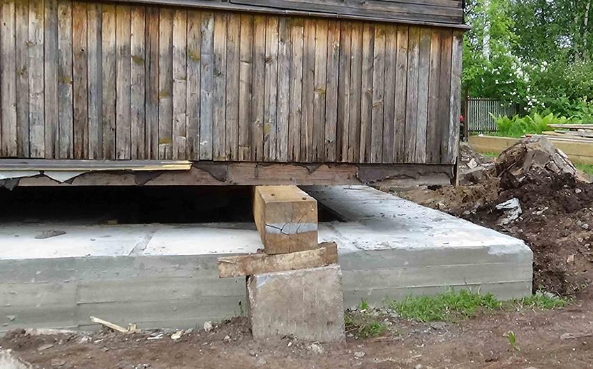 Как отремонтировать фундамент деревянного дома своими руками