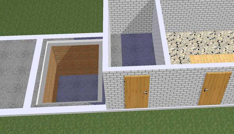 Как построить погреб в хозблоке своими руками