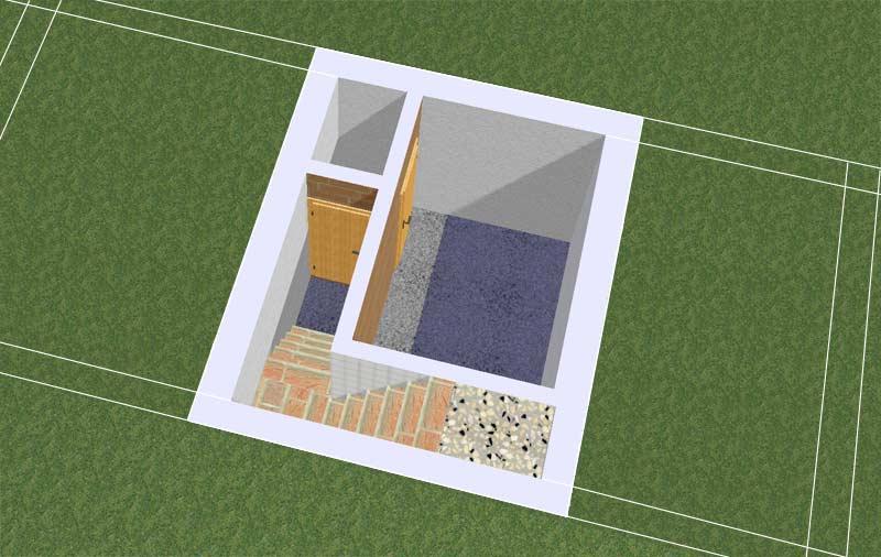 Как построить сарай с подвалом своими руками
