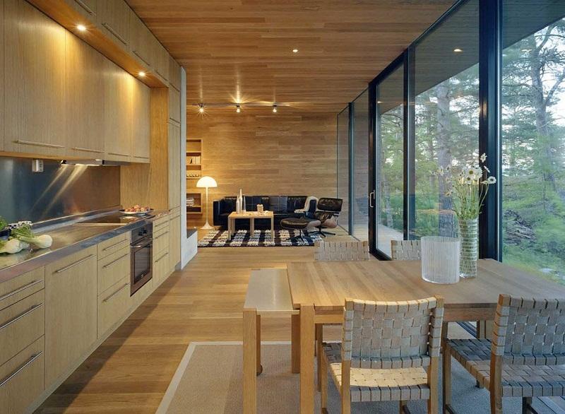 Выход на террасу из кухни, конструктивные варианты монтажа