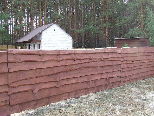 Забор из горбыля под покраску на даче