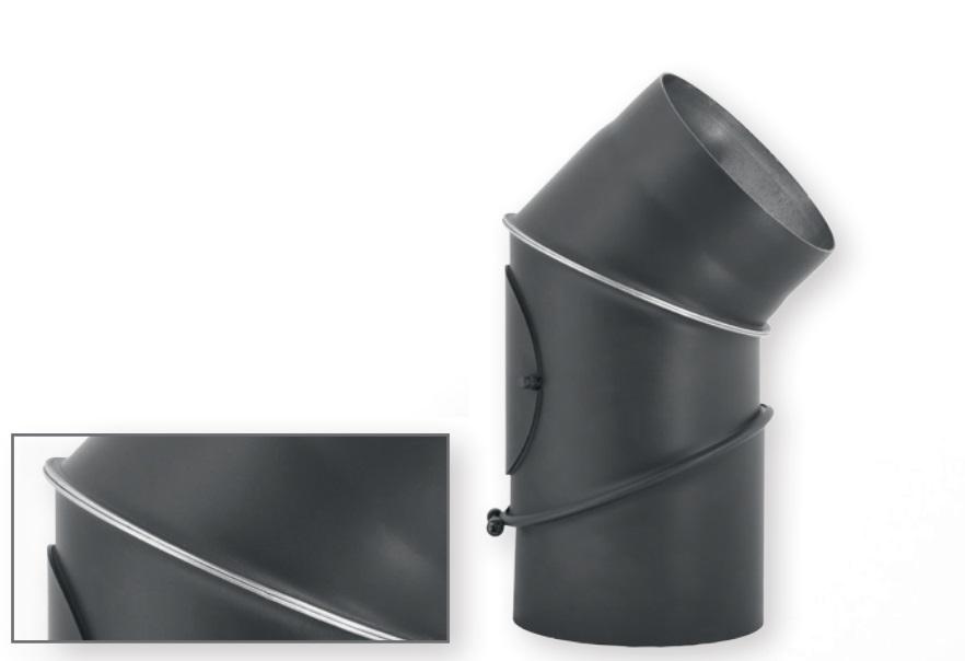 Дымоход из черной стали. Колено