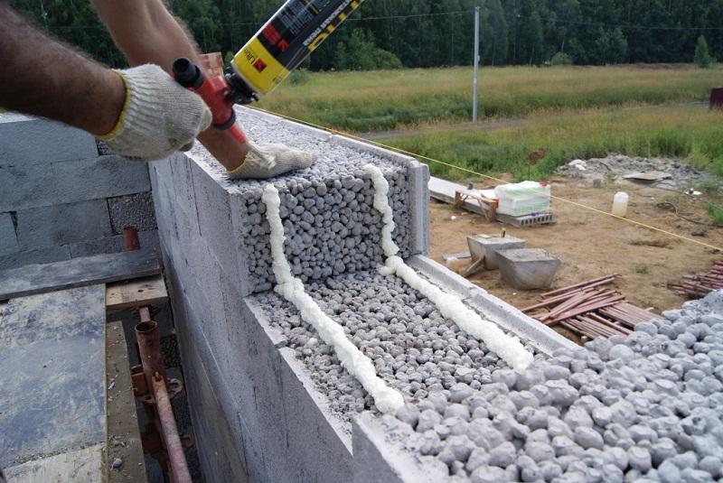 Фундамент для дома из керамзитобетона, изготовление блочной системы