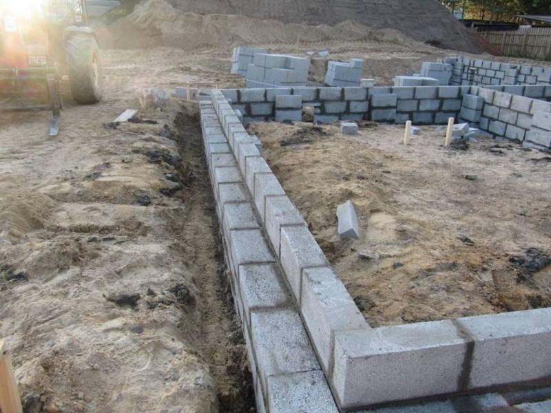 Фундамент для дома из керамзитобетона своими руками