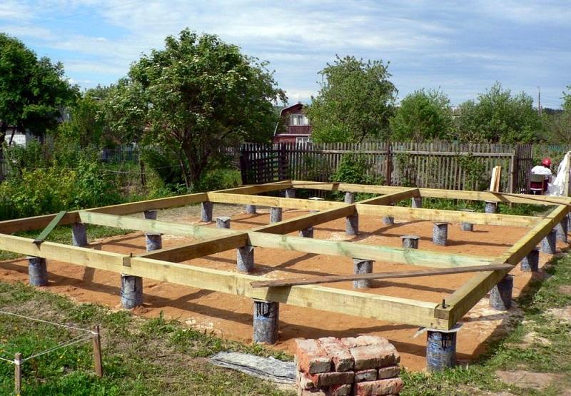 Фундамент под деревянный дом своими руками, основные требования к фундаменту