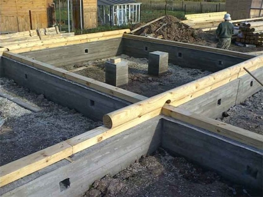 Фундамент под деревянный дом, типы фундамента для дачи