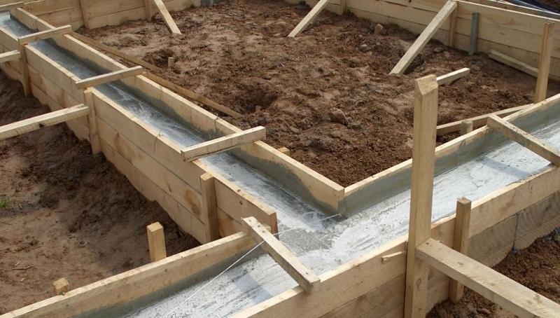 Фундамент под деревянный дом, устройство ленточного фундамента