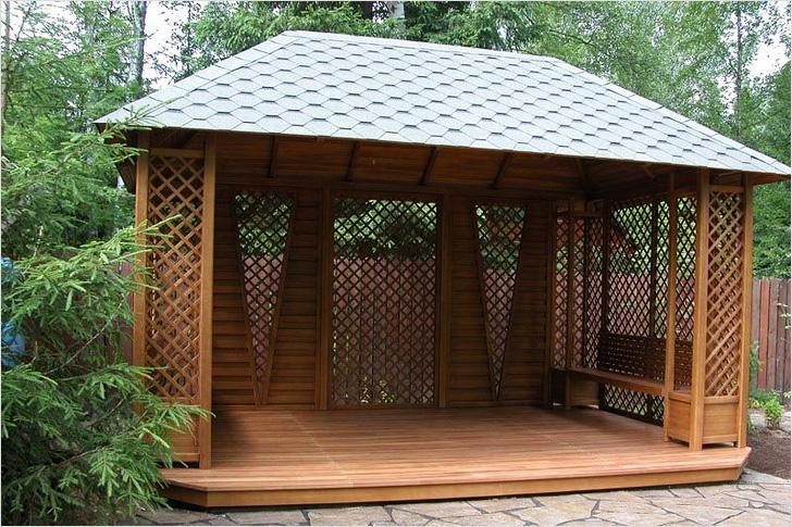 Как построить крышу для беседки на загородном участке своими руками