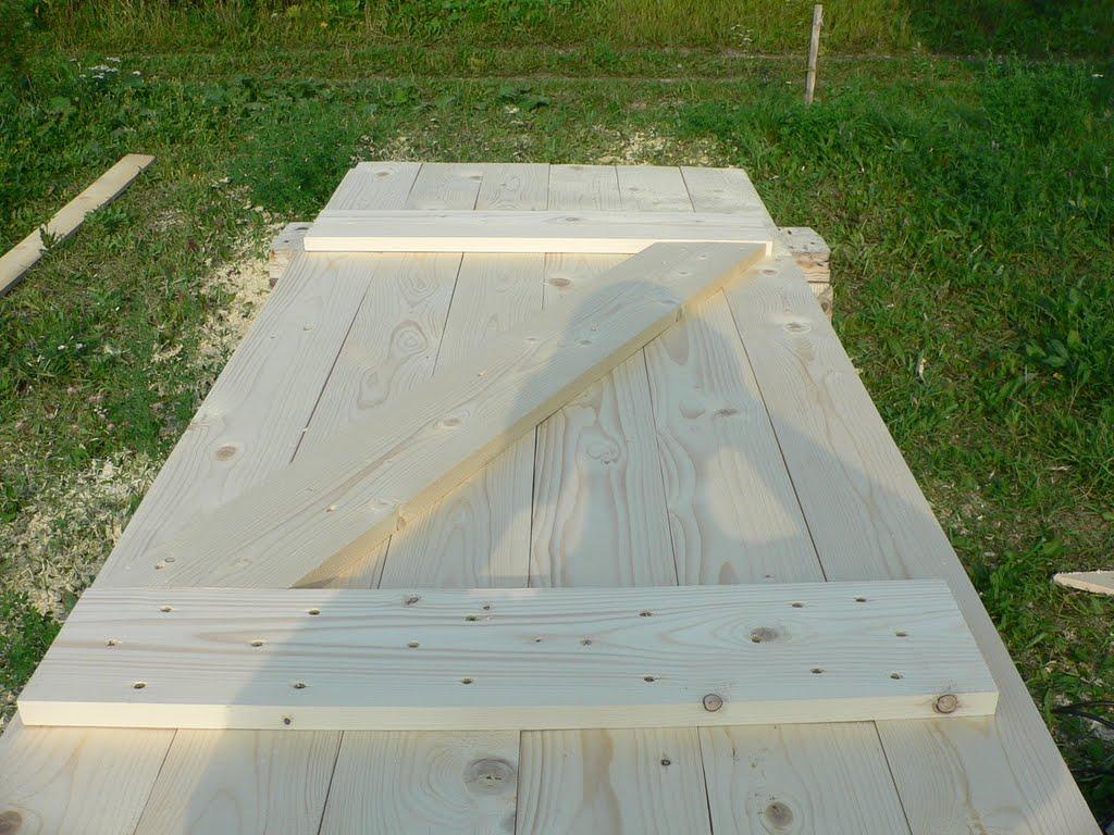 Как сделать дверь для сарая на даче из вагонки