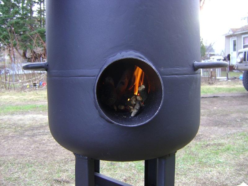 Печь буржуйка, конструкция из газового баллона