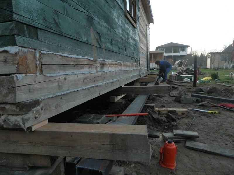 Поднять дом на фундамент, подготовительные работы