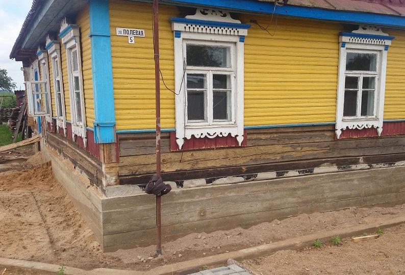 Поднять дом на фундамент, сооружение нового основания